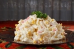 Рецепт. Салат крабовые палочки и кукуруза