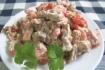 Рецепт. Салат с сухариками и помидорами