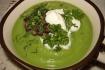 Рецепт. Пюре из брокколи с жареными грибами