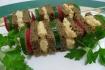 Рецепт. Бутерброды на шпажках с овощами и сыром