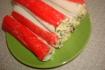 Рецепт. Крабовые палочки фаршированные сыром и зеленью