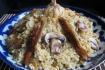 Рецепт. Плов с грибами и баклажанами