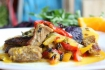 Рецепт. Мясо с овощами тушеное острое