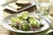 Рецепт. Салат с селедкой, огурцами и каперсами