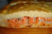 Рецепт. Пирог с рыбой лосось и луком