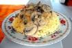 Рецепт. Пшенная каша с грибами со сметаной