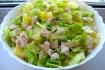 Рецепт. Салат с ананасами и ветчиной