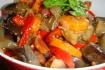 Рецепт. Соте из баклажанов с овощами