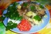 Рецепт. Картофель с грибами и зеленью