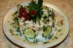 Рецепт. Салат из огурцов диетический
