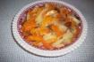 Рецепт. Цимес с морковью и яблоками