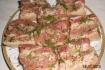 Рецепт. Сало с чесноком, перцем и укропом