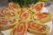Рецепт. Сырный рулет с рисом и красной рыбой