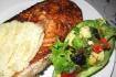 Рецепт. Стейк из лосося запечённый в духовке