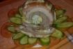 Рецепт. Грудинка свиная фаршированная яйцами в духовке