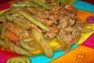 Рецепт. Поджарка из свинины со спаржевой фасолью