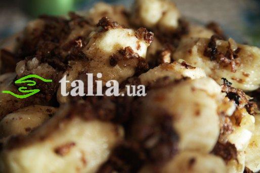 Рецепт. Галушки украинские с салом (клецки)