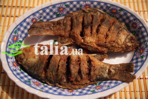 Рецепт. Жареная рыба (караси)