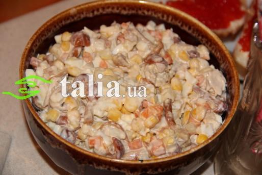 Рецепт. Новогодний салат с грибами
