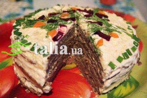 Рецепт. Печеночный торт