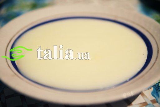 Рецепт. Молочный кисель