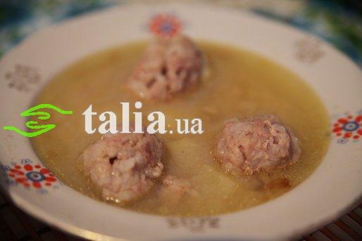 Рецепт. Суп с фрикадельками