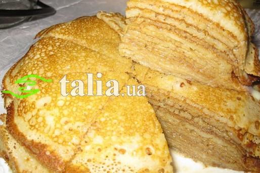 Рецепт. Блинчики со сгущенкой (блинный торт)