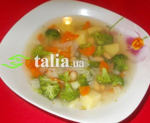 Рецепт. Постный овощной суп с фасолью