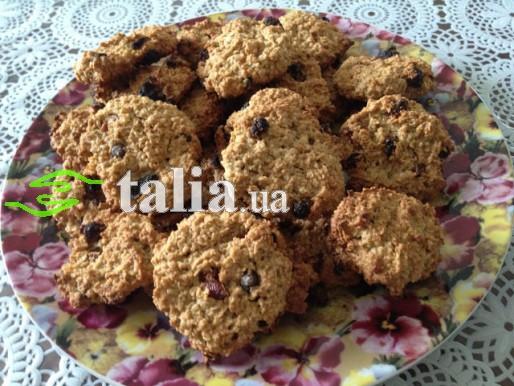 Рецепт. Постное овсяное печенье на кофе