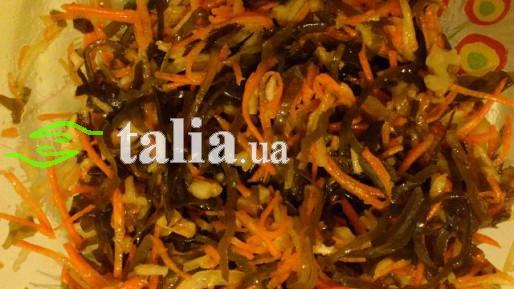 Рецепт. Постный салат из морской капусты