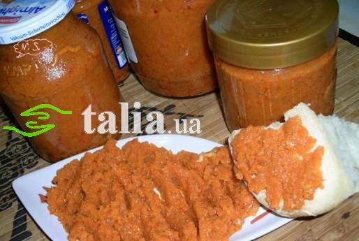 Рецепт. Морковное пюре для бутербродов
