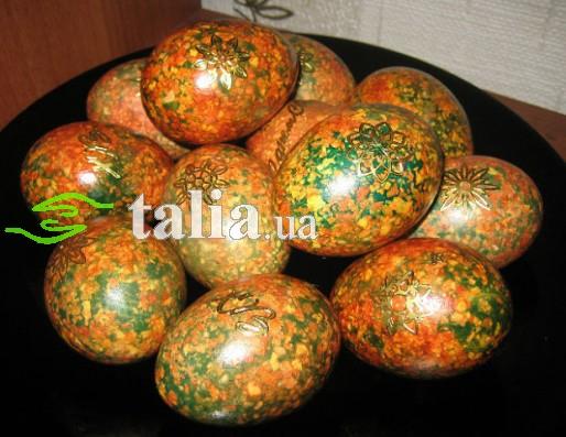 Рецепт. Краска для яиц. ''Мраморные яйца''