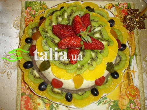 Рецепт. Пасха творожная с фруктами