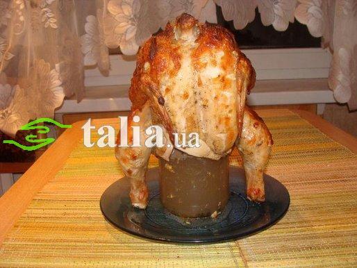 Рецепт. Курица на банке в горчичном соусе