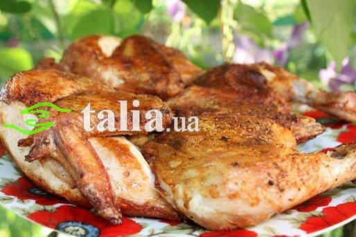Рецепт. Цыпленок табака в духовке
