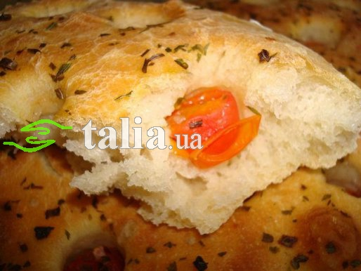 Рецепт. Фокачча с помидорами