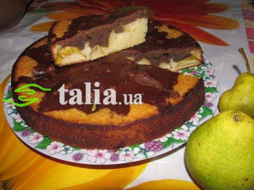 Рецепт. Пирог с грушами ''Мраморный''