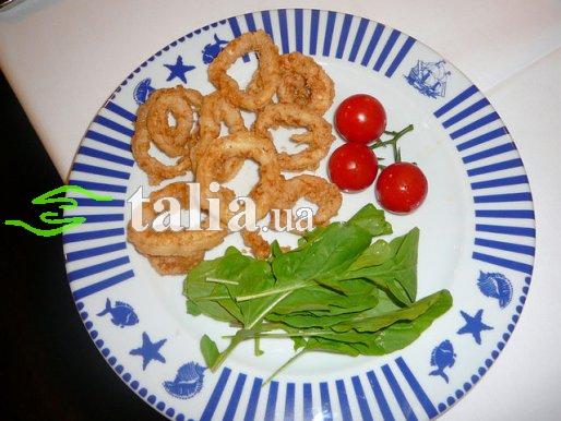 Рецепт. Жареные кальмары в кляре