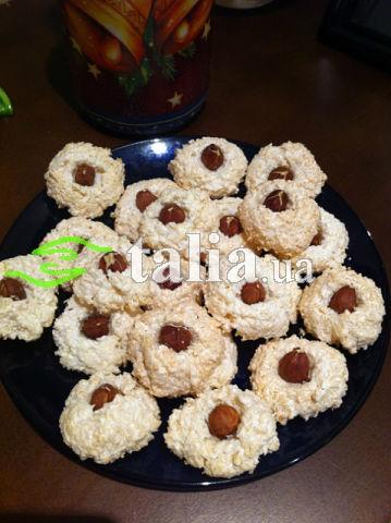 Рецепт. Кокосовое печенье