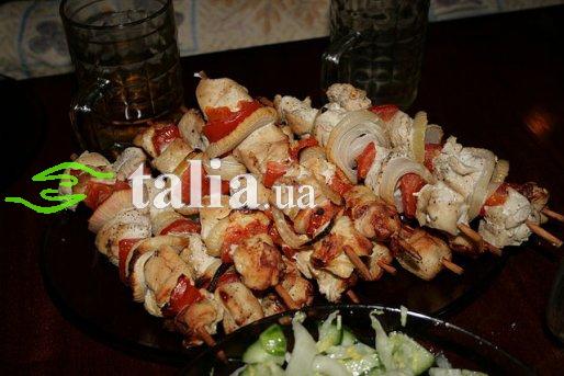 Рецепт. Шашлык из курицы (шашлык в духовке)