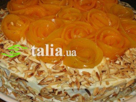 Рецепт. Морковный торт с творожным кремом