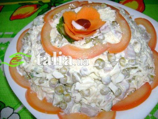Рецепт. Салат с языком ''Мужской каприз''