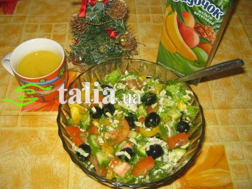 Рецепт. Салат осенний из пекинской капусты ''Витаминный''