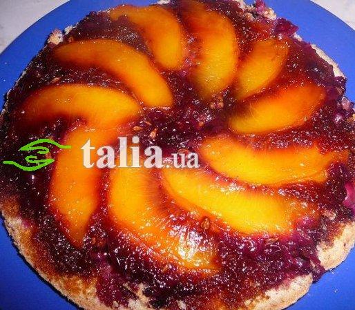 Рецепт. Персиковый пирог ''Перевертыш''