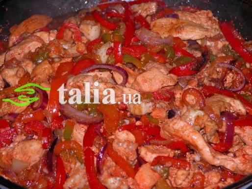 Рецепт. Курица по китайски с овощами