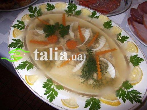 Рецепт. Заливная рыба судак (заливное из рыбы)