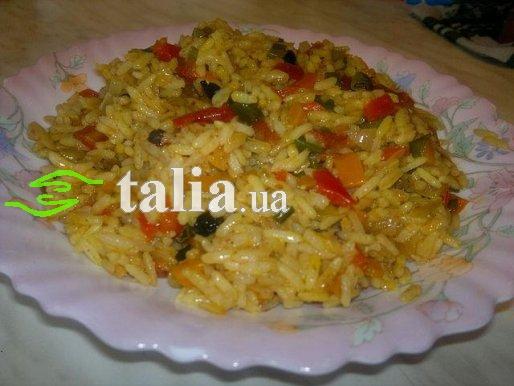 Рецепт. Жареный рис с овощной поджаркой