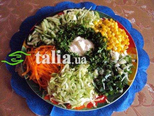 Рецепт. Салат весенний овощной ''Цветик семицветик''