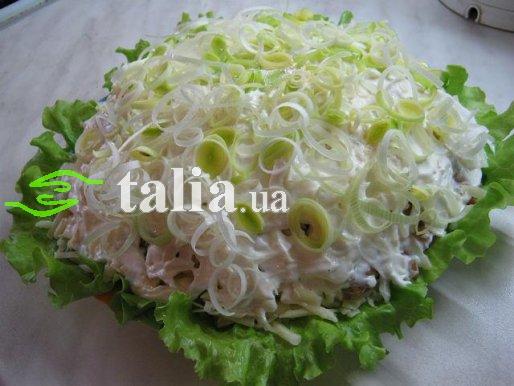 Рецепт. Салат с грибами и копченым мясом ''Опушка''