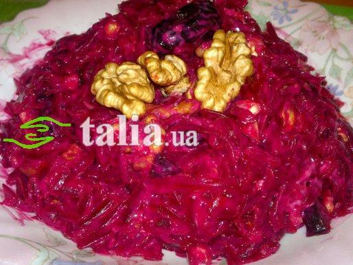 Рецепт. Салат из свеклы (салат с черносливом)